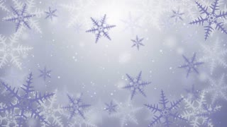 Snow crystal background seamless loop