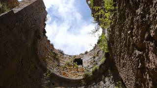Tower ruins of a Cathars castle