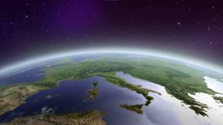 UFO flying above earth