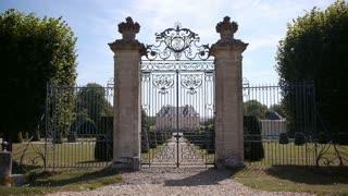 VENDEUVRE, FR - AUGUST 10. 2018: Vendeuvre castle gate