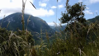 View of the Landscape of the french Pyrenees