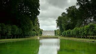 Water mirror at a castle garden, France