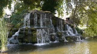 Waterfall in Rouen, Normandy France