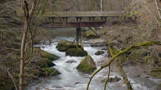 Wild water in natural park Eifel, Germany
