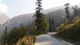Beautiful mountain road in the Himalayas