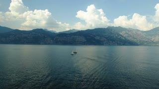Boats sailing at Lake Garda, Italy