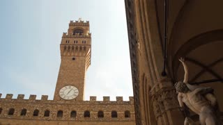 Clock Tower of Palazzo Vecchio in Florence, Italy