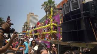 ISRAEL, TEL AVIV - 3 JUN 2016: the celebrate the annual gay pride parade in Tel Aviv