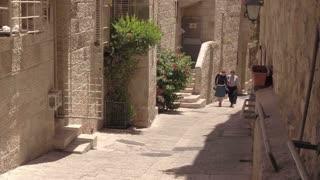 Jerusalem, Israel-June 6, 2016: Life on the streets of Jerusalem during a hot summer day