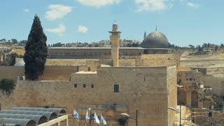 JERUSALEM, ISRAEL - JUNE 8, 2016:Panoramic view to Jerusalem