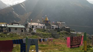 MANALI, INDIA - 26 SEPT 2016: Mountain village in the valley in the Himalayas