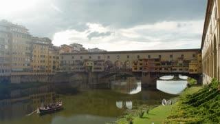 Ponte Vecchio (Old Bridge) in Florence, Italy.