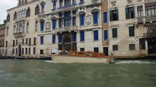 VENICE, ITALY - SEPT 15, 2016: Water taxi in Grand Canal