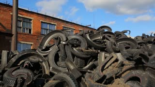 A huge dump of used tires