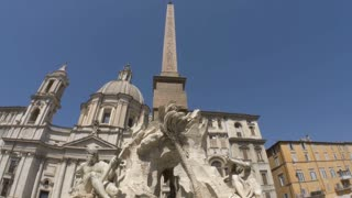 Fountain of the Four rivers in Rome is a masterpiece of world culture.
