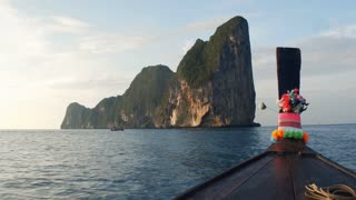 Journey to Paradise. The boat follows the tropical island of Phip-lei