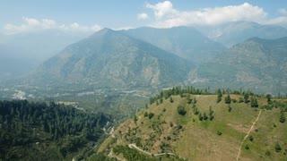 Kullu valley in a sunny day. Manali, Himachal Pradesh, India.