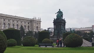 Maria Theresien Platz- landscape design, architecture, museums of antique Vienna