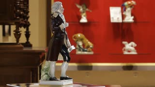 Masterfully executed statuette of the great Maestro Mozart.