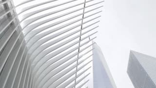 """Oculus World Trade Center Mall in Manhattan built on the site of """"Ground Zero"""" next to the 9/11 Memorial"""