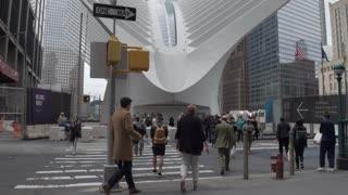 Oculus World Trade Center transportation hub. Steadycam shot