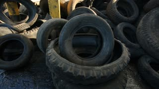 Old tire recycling plant