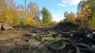 Old tires cause damage to the environment