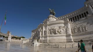 ROME, ITALY - 8 JULY 2017: A Grand structure - the altar of the Fatherland - one of the main attractions of Rome.