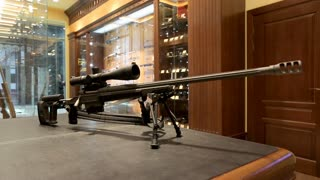 Tactical sniper rifle with bipod