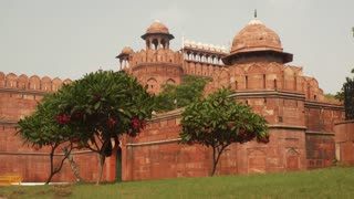 The Red Fort Lal Qila , a historical fort in the city of Delhi, India. UNESCO world Heritage Site.