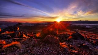 Desert Sunrise Timelapse Scene