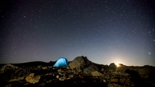 Primal Earth Images Camping Dark Skies Orion 4 K Stock