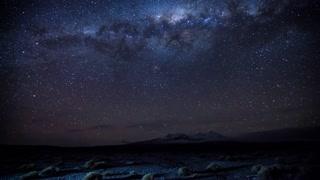 Primal Earth Images Desert Milkyway Winter Meteor 4 K Stock