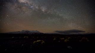 Primal Earth Images Desert Mountains Winter Milkyway 4 K Stock