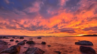 Primal Earth Images Dramatic Sunset Mamatua Clouds Lake