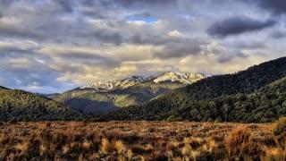 Primal Earth Images Kaimanawa Mountains Sunset 4 K Stock