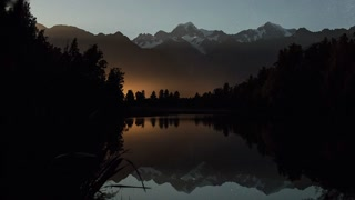 Primal Earth Images Lake Matheson Mountains Alps Night Stars Reflections