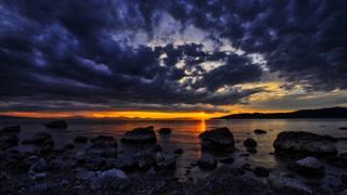 Primal Earth Images Lake Sunset 4 K Stock
