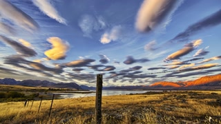 Primal Earth Images Mountains Sunset Lenticular Clouds