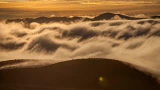 Primal Earth Images Rolling Cloud Over Landscape