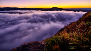 Primal Earth Images Sunrise Low Cloud 4 K Stock