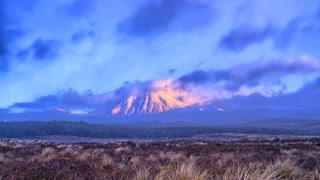 Primal Earth Images Sunrise Ngauruhoe 4 K Stock