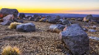 Primal Earth Images Sunrise Over Desert 4 K Stock