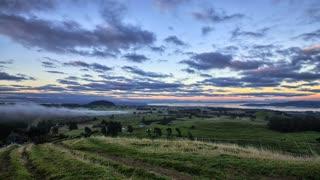Primal Earth Images Taupo Farmland Sunrise 4 K Stock