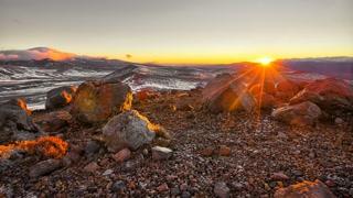 Primal Earth Images Tukino Ngauruhoe Sunrise 4 K Stock
