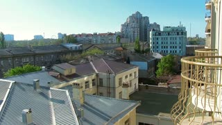 Panoramic movement. Odessa. Architecture City landscape Urban