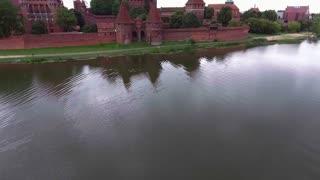 Old huge castle on river