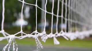Close-Up of Volleyball Net during game