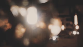Defocused Background With Blinking Stars. Blurred Bokeh curtain