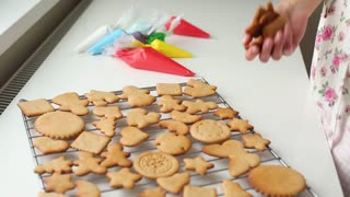 the girl can cook gingerbread at Christmas